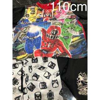 バンダイ(BANDAI)のトッキュウジャー 光るパジャマ  110 3点セット(パジャマ)