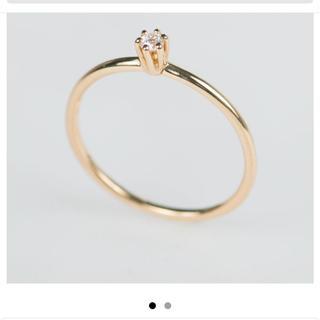アーカー(AHKAH)のドレスアドレス  プリンセスダイヤモンドリング  k18  ♯10(リング(指輪))