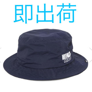 シュプリーム(Supreme)の店購入wind and sea BUCKET HAT 紺 Navy ハット帽(ハット)