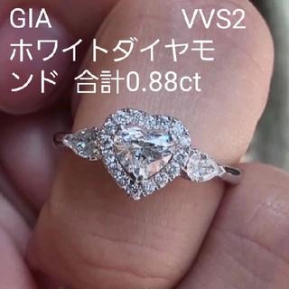 GIA♡ハートホワイトダイヤモンドリング(リング(指輪))