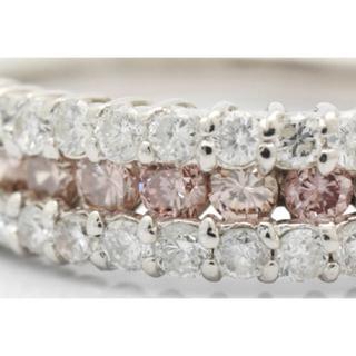 ピンクダイヤモンド 1ctUP PT900 リング(リング(指輪))
