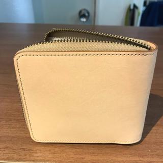 ムジルシリョウヒン(MUJI (無印良品))のえびぞう様確認用  無印良品 二つ折り財布 イタリア産ヌメ革 ラウンドファスナー(折り財布)