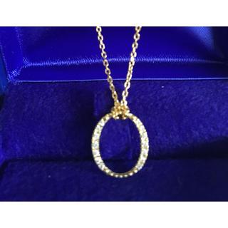アガット(agete)のBELLESIORA サークルダイヤ ロングネックレス K18(ネックレス)
