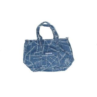 シュプリーム(Supreme)のSUPREME GONZ MAP DENIM TOTE BAG BLUE(トートバッグ)
