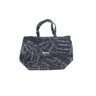 シュプリーム(Supreme)のSUPREME GONZ MAP DENIM TOTE BAG BLACK (トートバッグ)