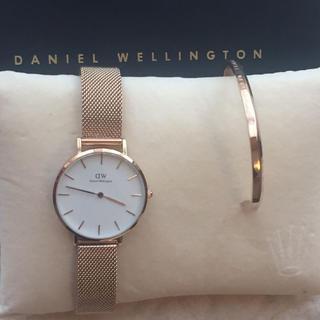 ダニエルウェリントン(Daniel Wellington)の[ダニエルウェリントン] ローズゴールド腕時計ステンレス バングルセット(腕時計)