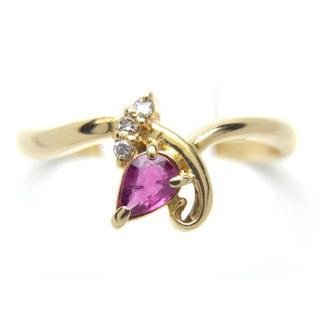 K18 ルビー ダイヤモンド リング*(リング(指輪))