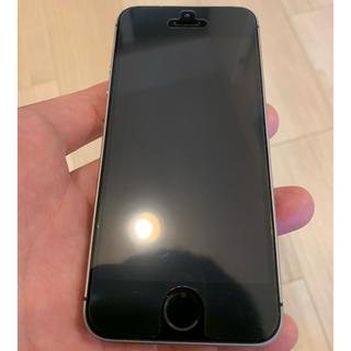 アイフォーン(iPhone)のSIMフリー iPhoneSE 128GB BLACK ジャンク(スマートフォン本体)
