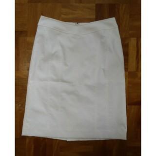 ベルメゾン(ベルメゾン)のタイトスカート 白 千趣会 ベルメゾン(ひざ丈スカート)
