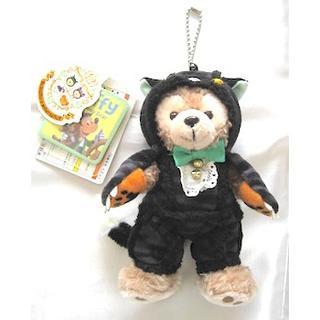 ダッフィー(ダッフィー)の雑貨348/TDS2014:ダッフィーぬいバ ハロウィン 黒猫(ストラップ)