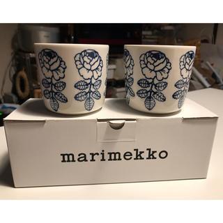 マリメッコ(marimekko)のmarimekko ヴィヒキルース ラテマグ ペア 日本限定品(グラス/カップ)