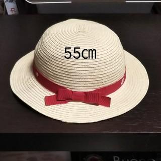 ファミリア(familiar)のfamiliar 麦わら帽子 55㎝(帽子)