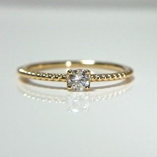 トクトクジュエリーメイ  K18  天然ダイヤモンド  0.13ct(リング(指輪))