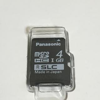 パナソニック(Panasonic)の高耐久性 SLCタイプ microSDメモリーカード 4Gbyte(車内アクセサリ)