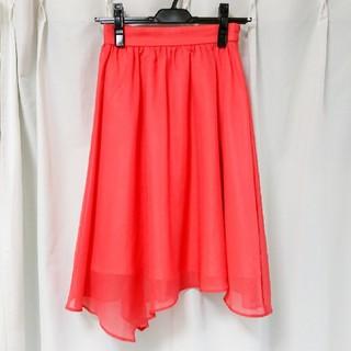 プロポーションボディドレッシング(PROPORTION BODY DRESSING)のPROPOTIONBODYDRESSINGアシンメトリーシフォンスカート(ひざ丈スカート)