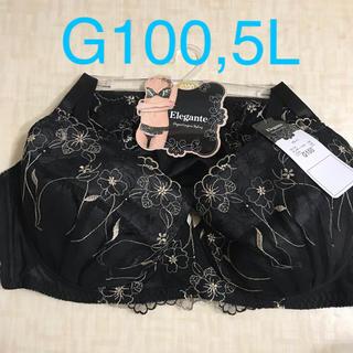 グラマーサイズブラ&ショーツセット 大きいサイズ下着上下セットG100,5L 黒(ブラ&ショーツセット)