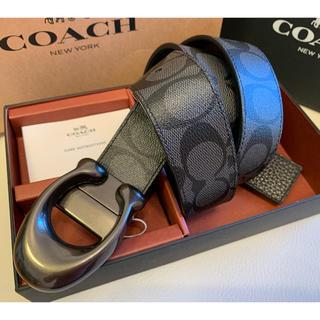 コーチ(COACH)の37,800円コーチ スカルプテッドシグネチャー/フリーサイズリバーシブルベルト(ベルト)
