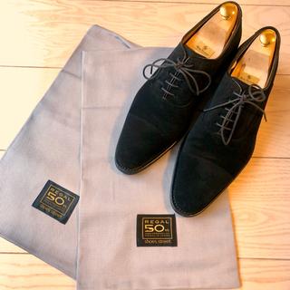 リーガル(REGAL)の定価2.9万 美品 リーガル ストレートチップ 315R スウェード ブラック(ドレス/ビジネス)
