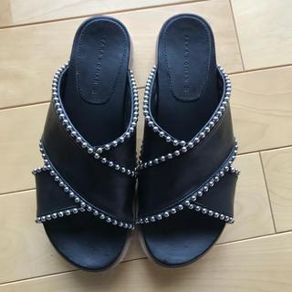 ZARA - ザラzaraクロスサンダル37美品靴スニーカーブラック