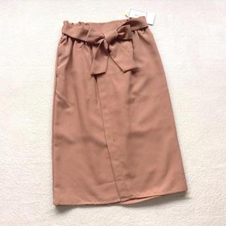 Rope' Picnic - ロペピクニック 麻調Iラインスカート キャメル
