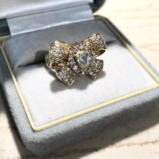 ダイヤモンド★リボンパヴェセッティングリングK18★0.43+1.41ct(リング(指輪))