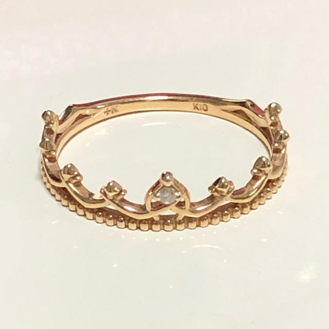 NOJESS(ノジェス)のノジェス ♡K10 クラウンダイヤリング  YG レディースのアクセサリー(リング(指輪))の商品写真