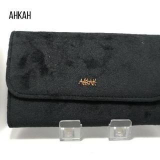 AHKAH - AHKAH(アーカー) 長財布美品 黒 化学繊維