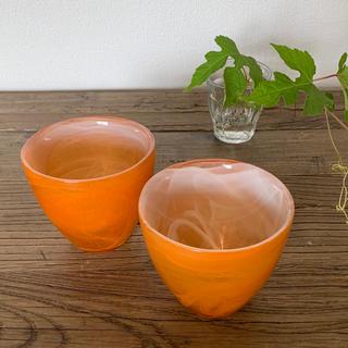 インテリア雑貨2個/A     オレンジ(インテリア雑貨)