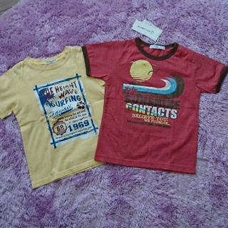 ベルメゾン(ベルメゾン)の夏☆Tシャツ2枚セット☆新品ベルメゾン&イエローアロハ120(Tシャツ/カットソー)