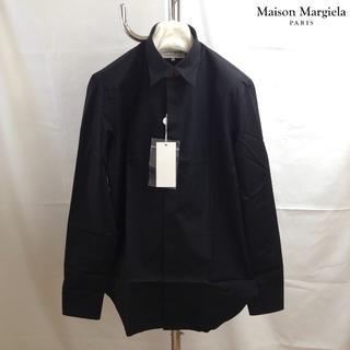 マルタンマルジェラ(Maison Martin Margiela)の新品■39■19ss継続展開■マルジェラ■黒■コットンシャツ■5923(シャツ)