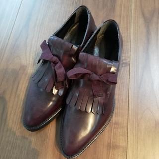プラステ(PLST)のイタリア製PLST ヒールローファー37(ローファー/革靴)
