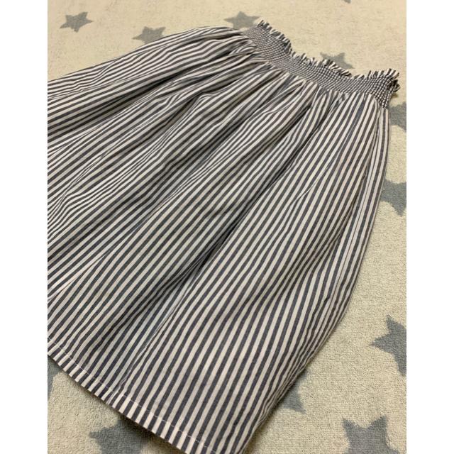 GU(ジーユー)のガールズ☆シャーリング スカート 110 キッズ/ベビー/マタニティのキッズ服 女の子用(90cm~)(スカート)の商品写真