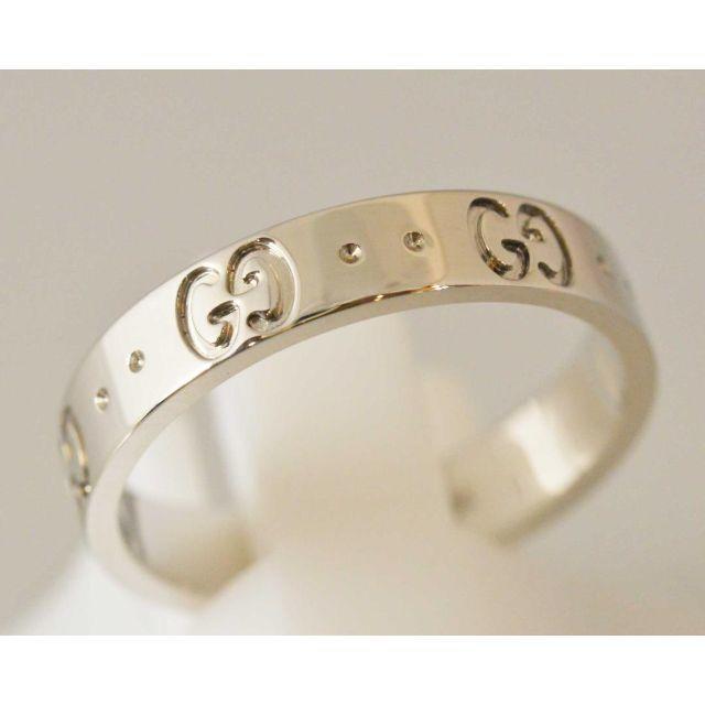 Gucci(グッチ)のグッチ 750WG K18 アイコンリング  レディースのアクセサリー(リング(指輪))の商品写真