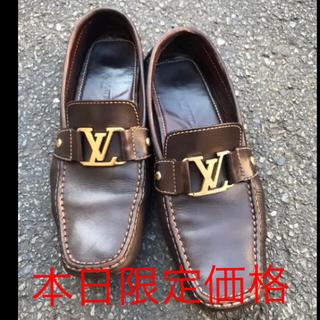 ルイヴィトン(LOUIS VUITTON)のルイビトン革靴(茶)(ドレス/ビジネス)