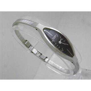 キャサリンハムネット(KATHARINE HAMNETT)のKATHARINE HAMNETT 腕時計 シルバー ブラックダイアル(腕時計)