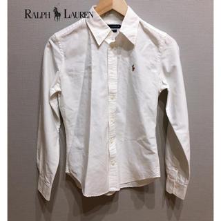 ラルフローレン(Ralph Lauren)のラルフローレン 白ブラウス シャツ 160(ブラウス)