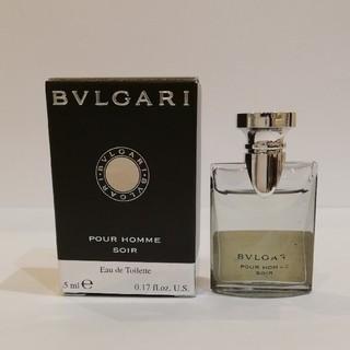 ブルガリ(BVLGARI)のBVLGARI ブルガリ プールオム ソワール 5ml ミニ香水(香水(男性用))