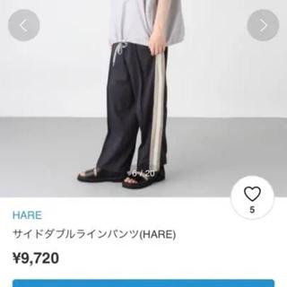 ハレ(HARE)のHARE サイドダブルラインパンツ(スラックス)