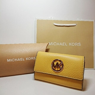 マイケルコース(Michael Kors)の新品 マイケル・コース キーケース キーリング付 黄色 イエロー(キーケース)