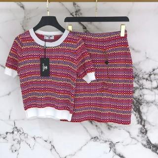 シャネル(CHANEL)のCHANEL シャネル Tシャツ+スカート セット S 正規品(Tシャツ(半袖/袖なし))