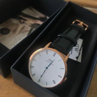 ダニエルウェリントン(Daniel Wellington)の限定お値下げ DW DAPPER SHEFFIELD 34ミリ ローズゴールド(腕時計)
