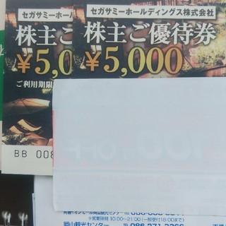 セガ(SEGA)のセガサミーホールディングス株主優待5000×2枚 10000円分6月末期限 (その他)