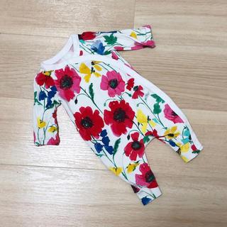 babyGAP - baby GAP cotton100% 花柄 新生児 ロンパース 50