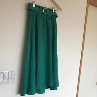 シマムラ(しまむら)の新品 タグ付き 春スカート ロングスカート M   しまむら イレギュラーヘム(ロングスカート)
