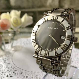 Tiffany & Co. - 【美品】TIFFANY&Co ティファニー アトラス 腕時計 メンズ シルバー