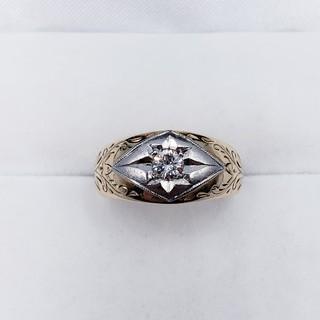 0.205ctダイヤモンド K18 PT900 リング 保証書付☆送料無料☆(リング(指輪))
