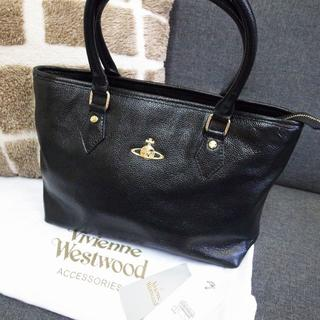 ヴィヴィアンウエストウッド(Vivienne Westwood)の正規品☆超美品☆ヴィヴィアン トートバッグ ハンドバッグ 黒 レザー バッグ(トートバッグ)