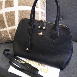 ヴィヴィアンウエストウッド(Vivienne Westwood)の正規品☆ヴィヴィアン 2wayバッグ 黒 レザー オーヴ 土星 バッグ 財布(ハンドバッグ)
