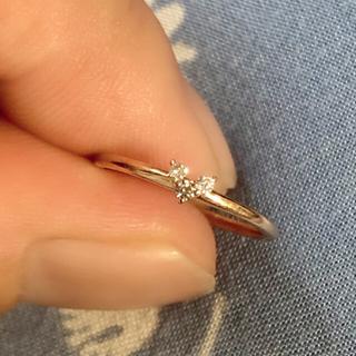 ヨンドシー(4℃)の4°C ハート ダイヤ ピンキーリング ♯3(リング(指輪))