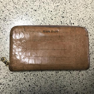 ミュウミュウ(miumiu)のmiumiu♡クロコ長財布 アンティコ(長財布)